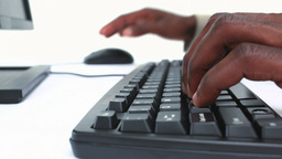 Close up of hands typing on keyboard Stock Video Footage