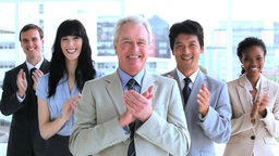 Successful business team applauding Footage