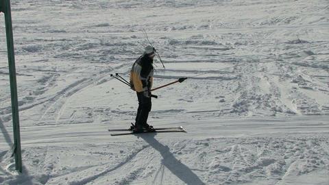 Skier uphill Footage