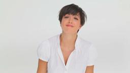 Upset businesswoman making gestures Footage