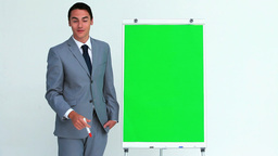 Businessman giving a presentation Live Action