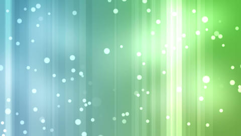 Blue and green streams of light with shining stars Animation