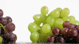 Bunches of grapes in super slow motion receiving d Footage