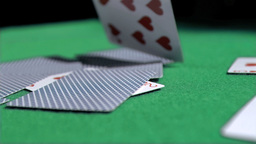 Playing card in super slow motion being thrown Footage