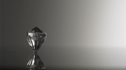 Clear diamond in super slow motion moving Stock Video Footage