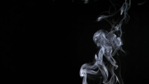 Cigarette Smoke In Super Slow Motion stock footage