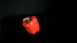 Bell pepper rotating in super slow motion Footage