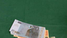Euro banknotes thrown in super slow motion Footage