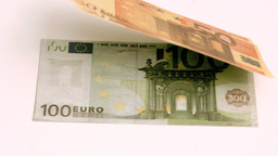 European banknotes blown in super slow motion Footage