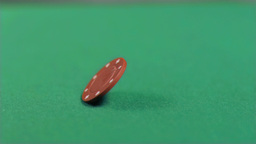 Red chip falling in super slow motion Stock Video Footage