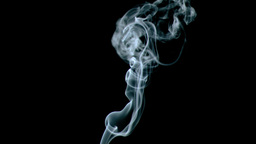 Incense white fume in super slow motion Stock Video Footage