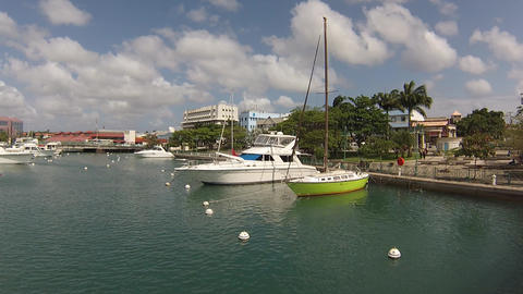 yatchs at barbados marina Stock Video Footage
