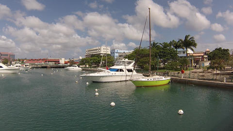 yatchs at barbados marina Footage