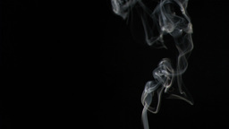 Incense smoke in super slow motion Stock Video Footage