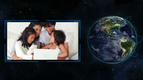Families around the world Animation