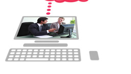 Business people videos on digitally created device Stock Video Footage