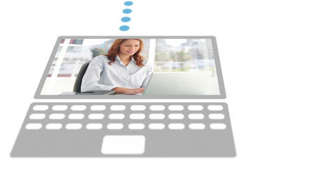 Business people on different devices Animation