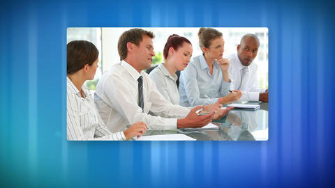 Communication in corporate business Stock Video Footage