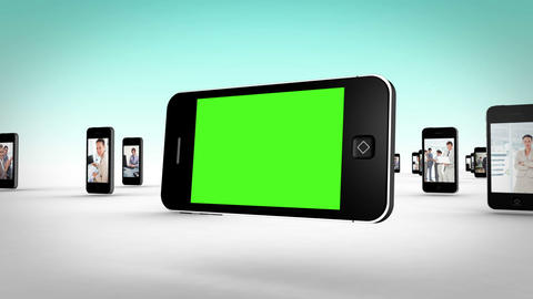 Business videos on smartphone screens Stock Video Footage