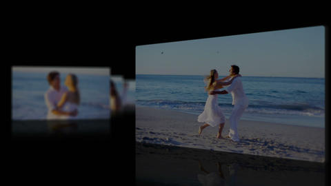 Honey moon at beach Stock Video Footage