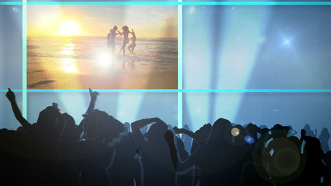 Club on the beach Stock Video Footage