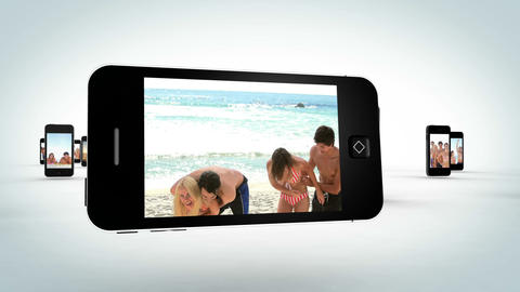 Video of attractive young people at beach Stock Video Footage