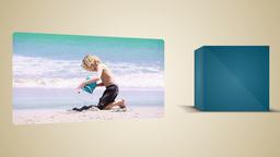 Blond little boy enjoying the beach Stock Video Footage