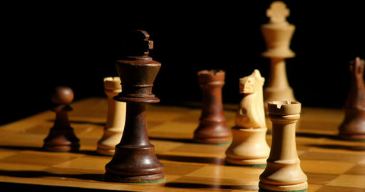 1798 Chess Horse Takes King Check Mate, 4K Stock Video Footage