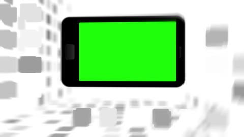 Smartphone screen in chroma key Stock Video Footage