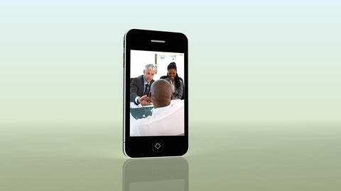 Videos of business on a smartphone Animation