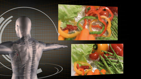 Videos of healthy eating with a digitally created  Animation