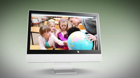 Videos of a school class Stock Video Footage