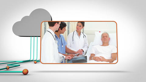 Medical videos with a grey cloud Animation