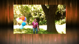 Videos of children in slow motion in a park Stock Video Footage