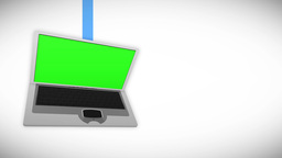 Laptop screens in chroma key Animation