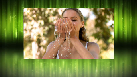 Videos in slow motion of women in a park Stock Video Footage