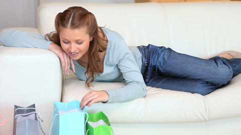 Women looking at their purchases Animation
