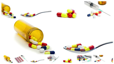 Pills and syringes Animation