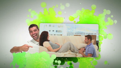 Man playing with his pregnant woman Animation