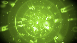 Green Alphabet Letters stock footage