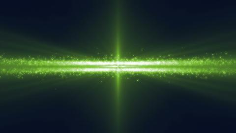 Spaceship in asteroid belt under green light Footage