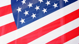 American flag on home Footage