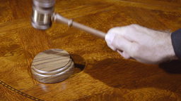 Judge And Gavel stock footage