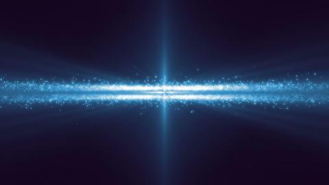 Spaceship in asteroid belt under blue light Footage
