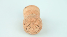 Champagne cork turning Stock Video Footage