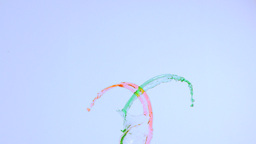 Lines of paint in super slow motion being thrown Stock Video Footage