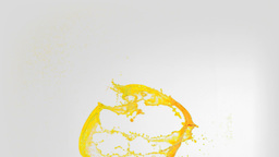 Lines of yellow paint in super slow motion splashi Stock Video Footage