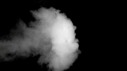 White smoke in super slow motion coming Footage