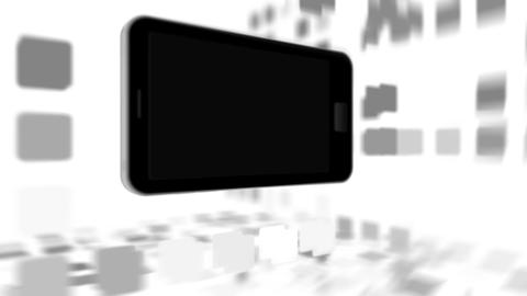 Animation with a black smartphone Animation
