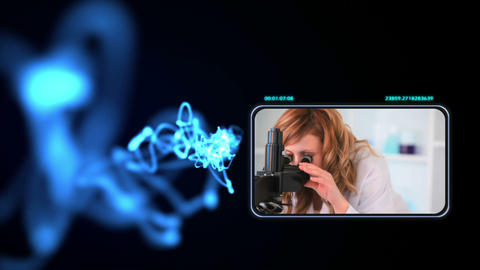Young woman doing chemistry Animation